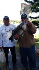 Joe and Greg withh 11.26 pound bass